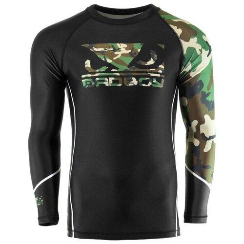 Рашгард Bad Boy Soldier черный/зеленый камуфляж L недорого