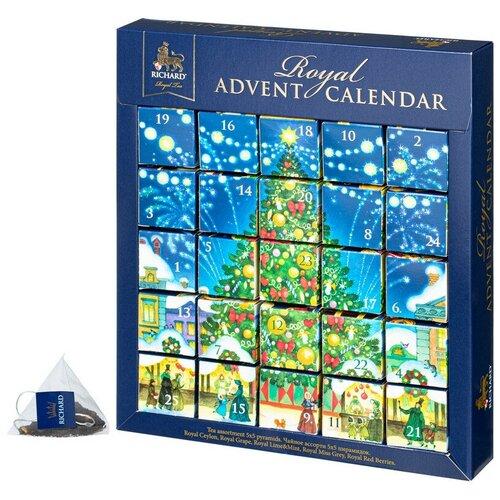 Чай Richard Royal Advent Calendar новогодние пазлы, 25 пирамидок чай richard royal advent calendar ассорти в пирамидках подарочный набор 25 шт