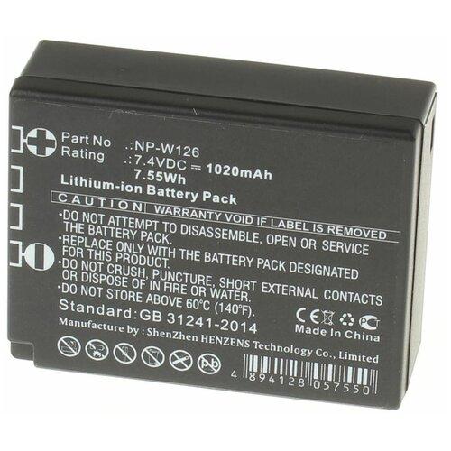Фото - Аккумуляторная батарея iBatt 1020mAh для Fujifilm NP-W126S, iB-F152 аккумуляторная батарея для фото видеокамер fujifilm finepix hs30 hs33exr x pro 1 np w126 7 4v 1020mah