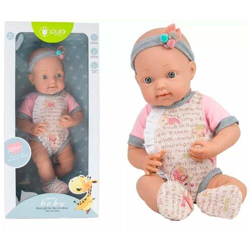 Детский игрушечный новорожденный пупс / Игрушечный новорожденный пупс panawealth / Кукла пупс Reborn с лентой - бантом , 40 сантиметра