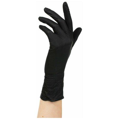 Фото - Нитриловые одноразовые перчатки Wally Plastic нестерильные, неопудренные, размер L, 100 шт (50 пар), цвет черный перчатки одноразовые нитриловые черные wally plastic размер m 100 шт 50 пар