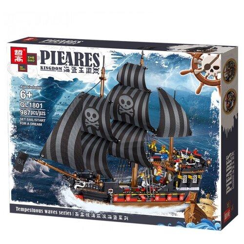 Купить Конструктор Zhe Gao Pieares Kingdom QL1801 Пиратская каравелла, Конструкторы