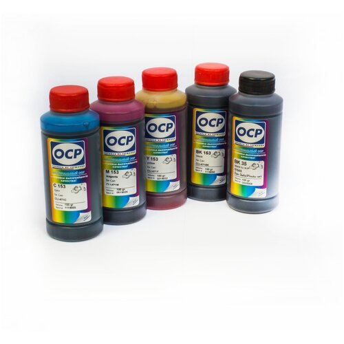 Фото - Чернила OCP (краска) для принтеров Canon PIXMA: MG5740, MG6840, TS5040, TS6040 SafeSet 100x5 чернила краска для заправки принтера canon pixma g4410 набор черный 250