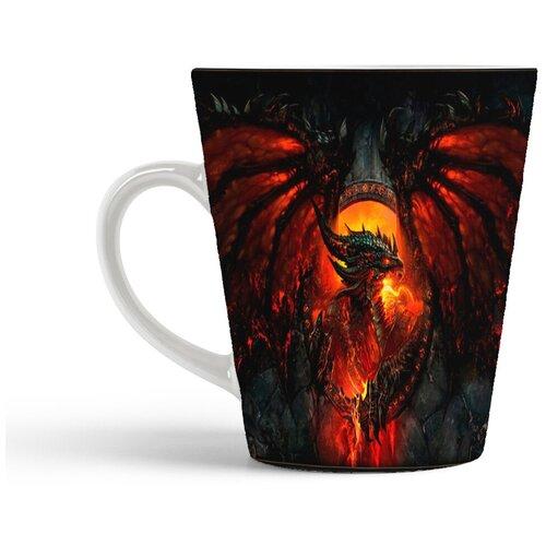Кружка-латте CoolPodarok World of Warcraft Ворлд оф Варкрафт (дракон)
