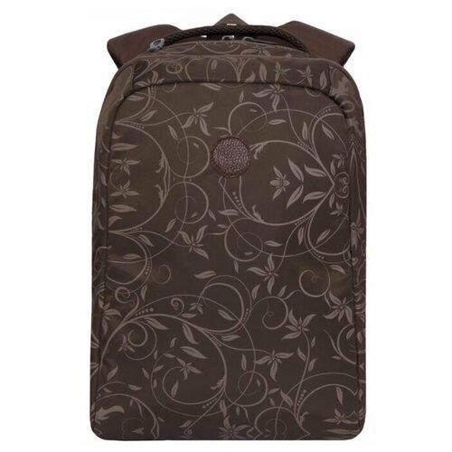 Купить Рюкзак молодежный Grizzly RD-044-5 подростковый, женский, шоколадный - орнамент, Рюкзаки, ранцы