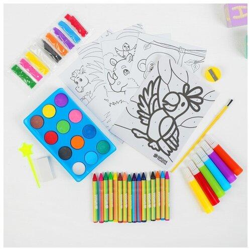 Купить Набор для рисования Школа талантов Сафари , в пакете, Наборы для рисования