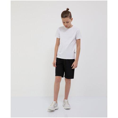 Шорты черные из футера с мешком в комплекте Gulliver для мальчиков, цвет черный, размер 158, модель 200GSBC5802