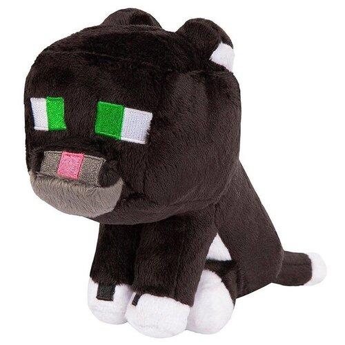Детская мягкая игрушка ВсеИгрушки / Плюшевый Дымчатый Кот Tuxedo Cat из игры Майнкрафт (Minecraft) для детей, мальчиков и девочек, 23 см