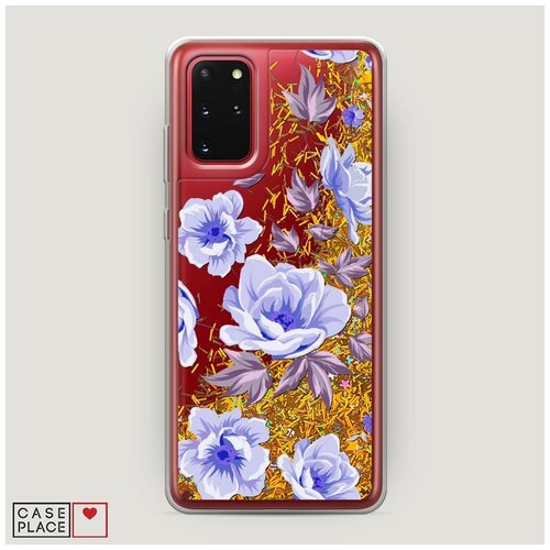 Фото - Чехол Жидкий с блестками Samsung Galaxy S20 Plus Цветочная фантазия 1 чехол жидкий с блестками samsung galaxy s20 plus цветочная фантазия 1