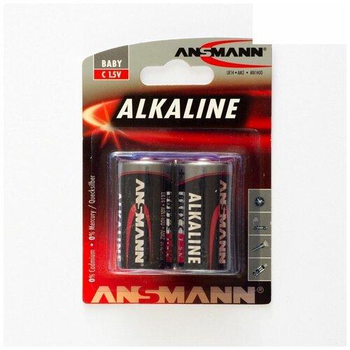Фото - Батарейка ANSMANN RED, 1.5 В, LR14 BL2 батарейка c ergolux lr14 alkaline bl 2 lr14 bl2