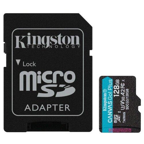 Фото - Карта памяти Kingston Canvas Go! Plus microSDXC UHS-I Cl10 +ад, SDCG3/128Gb карта памяти kingston canvas select plus microsdxc uhs i ад sdcs2 128gb