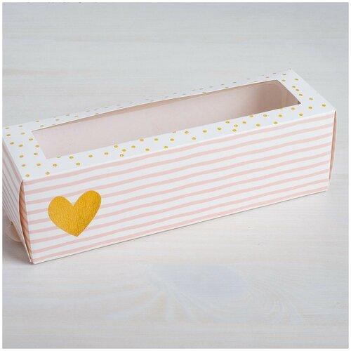 Коробка для макарон «Нежность», 18х5,5х5,5 (см)
