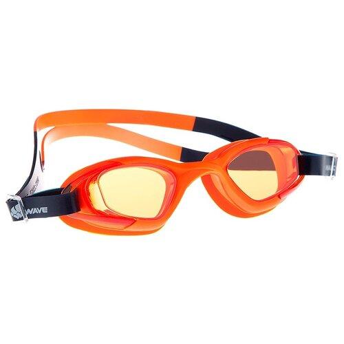 Очки для плавания MAD WAVE Junior Micra Multi II, оранжевый очки для плавания mad wave turbo racer ii black orange