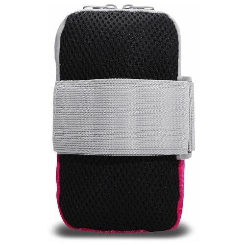 Сумка спортивная на руку 18х12 см, для бега/для фитнеса/для ходьбы/для телефона, цвет розовый