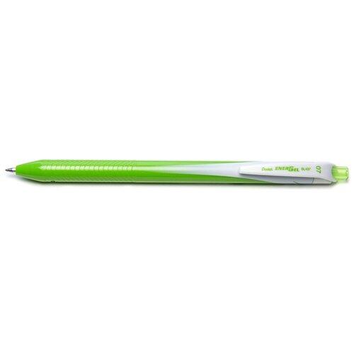 Ручка гелевая Pentel Energel, одноразовая, PBL437-K, цвет чернил салатовый, 0,7 мм гелевая ручка energel x 0 7 мм зеленая