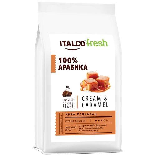 Фото - Кофе в зернах Italco Fresh Cream & Caramel ароматизированный, 375 г кофе в зернах italco fresh irish cream ирландский крем ароматизированный 375 г