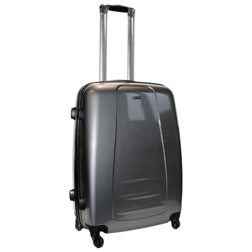 Чемодан Rion+, 418/53 глянец серый 24 чемодан rion 418 3 62 л голубой