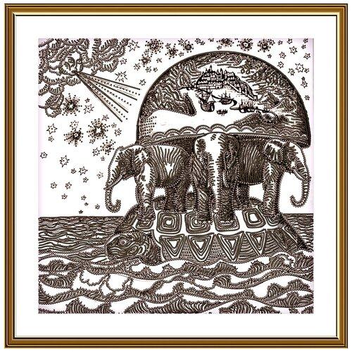 Купить Набор для вышивания Новая Слобода Атланты Земли 25х25 см, NOVA SLOBODA, Наборы для вышивания