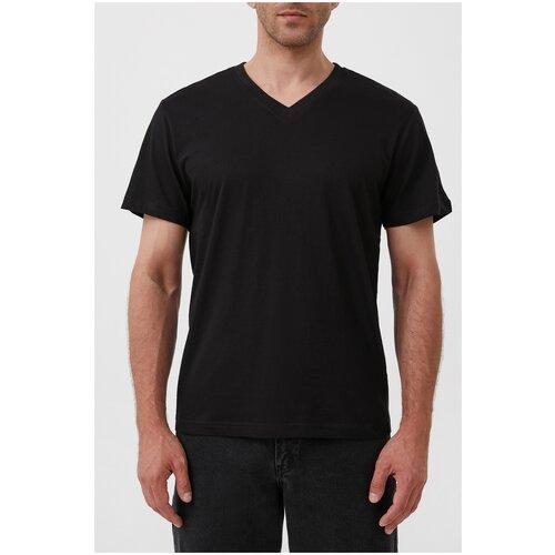 футболка мужская anta цвет черный 85839144 3 размер m 48 Футболка мужская Finn Flare, цвет: черный S21-21043C_200, размер: M(176-96-80)