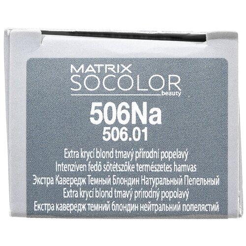 Купить Matrix Socolor Beauty стойкая крем-краска для волос Extra coverage, 506Na темный блондин натуральный пепельный, 90 мл