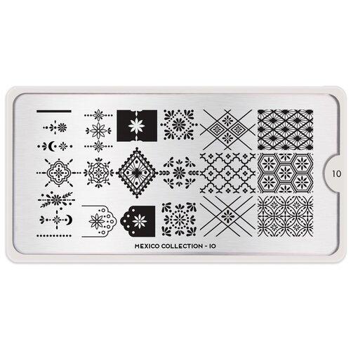 Купить Трафарет MoYou London Mexico №10 12.5 х 6.5 см silver