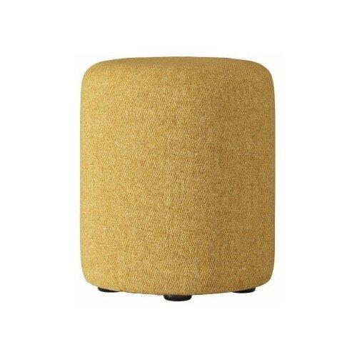 EVITA Пуф Альба диаметр 350 желтый/пуф для гостиной/пуф в спальню/пуф в прихожую/ мягкий пуфик/пуфик пуф mebin