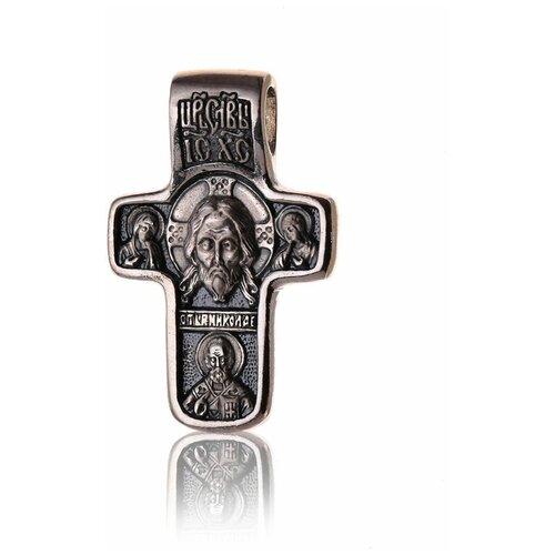 TOP CRYSTAL Крест с изображением Спаса Нерукотворного и образом Иконы Покрова Пресвятой Богородицы 11012290