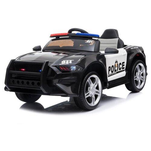 Купить Электромобиль Полицейский TM CITY-RIDE, машина детская на аккумуляторе с пультом управления, машинка детская для малышей на радиоуправлении, для детей, для катания. 1B2M 2.4G, 12V4.5AH*1, мягкие колеса EVA, амортизация, свет, звук, багажник, цвет черный. Размер машины: 110*62*45 см, Электромобили