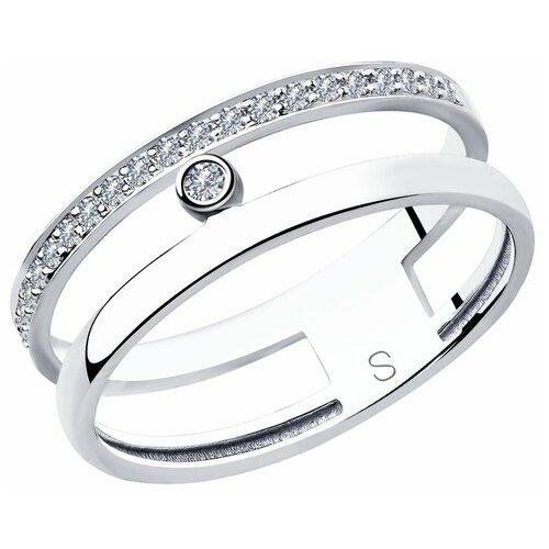 SOKOLOV Кольцо из белого золота с бриллиантами 1011850, размер 18.5