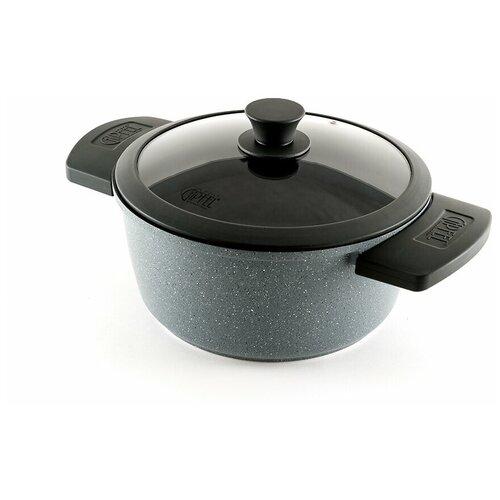 Кастрюля GIPFEL GREYCE, 4.45 л, черный/серый кастрюля gipfel bavari 4 л серый