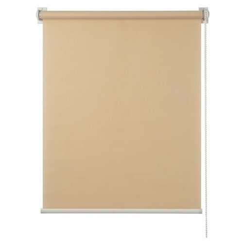 Рулонная штора Prime Decor Миниролло Plain (кремовый), 83х170 см