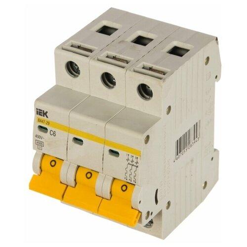 Автоматический выключатель IEK ВА 47-29 3P (C) 4,5kA 20 А автоматический выключатель iek ва 47 29 3p c 4 5ka 63 а