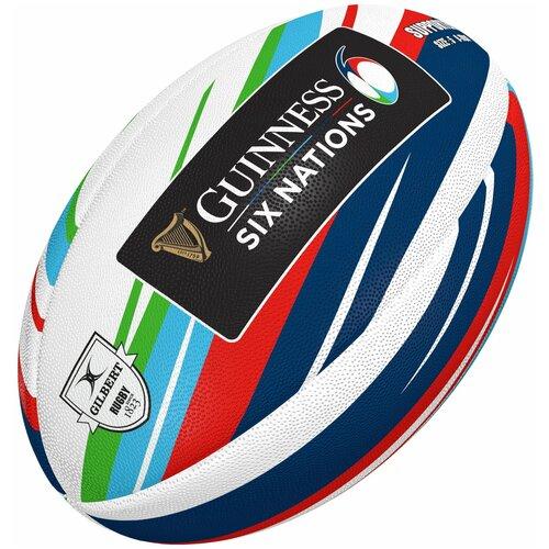 Мяч для регби GILBERT SUPPORTER 6 NATIONS GUINESS