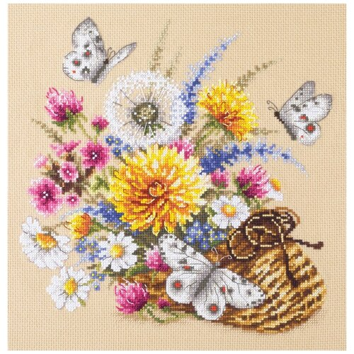 Чудесная Игла Набор для вышивания Луговые цветы 25 х 25 см (40-81) чудесная игла набор для вышивания пионы для умелицы 25 х 25 см 100 124
