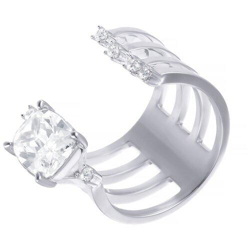 Фото - ELEMENT47 Широкое ювелирное кольцо из серебра 925 пробы с кубическим цирконием F-641R_001_WG, размер 16.25 element47 широкое ювелирное кольцо из серебра 925 пробы с кубическим цирконием f 642r 001 wg размер 16