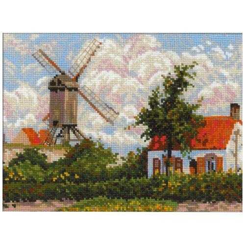 Купить Риолис Набор для вышивания Ветряная мельница в Кноке по мотивам картины К. Писсарро 33 x 25 см (1702), Наборы для вышивания