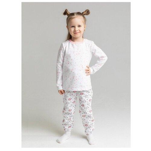 Купить Пижама: Джемпер, брюки КотМарКот, 2691230 (размер 92, цвет Белый), KotMarKot, Домашняя одежда