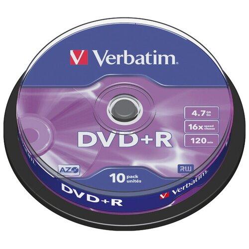 DVD-диск Verbatim 4.7 Gb, 16x, Cake Box (10шт)
