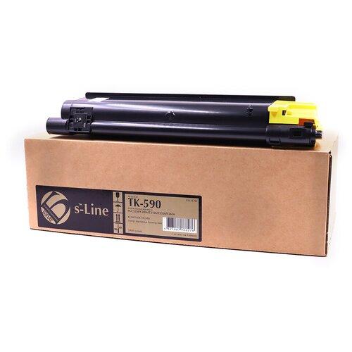 Тонер-картридж булат s-Line TK-590Y для Kyocera FS-C2026MFP, FS-C2126MFP, FS-C2526MFP, FS-C2626MFP (Жёлтый, 5000 стр.)
