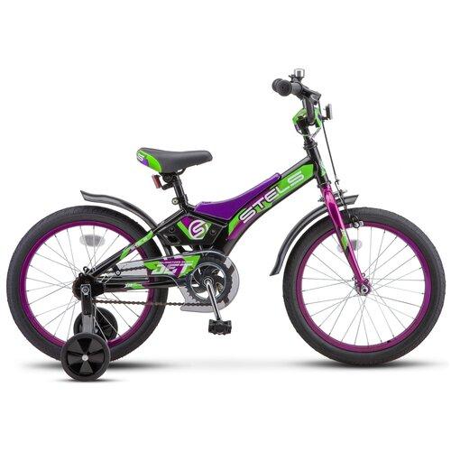 Детский велосипед STELS Jet 18 Z010 (2018) фиолетовый 10 (требует финальной сборки) детский велосипед stels jet 14 z010 2018 белый синий 8 5 требует финальной сборки