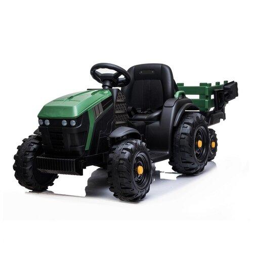 Купить Электромобиль TM CITY-RIDE, машина детская на аккумуляторе, машинка для малышей, для детей, Трактор с прицепом, колёса EVA, сиденье эко-кожа, 1B2M 12V7AH*1, 45W*2, запуск кнопкой, цвет зеленый, Электромобили