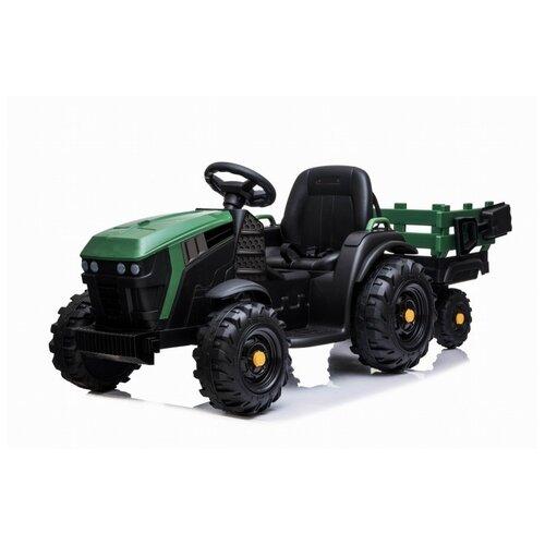 детский электромобиль jiajia bmw x6m black 12v jj2168 Детский Электромобиль Bettyma трактор с Прицепом 2WD 12V Jiajia BDM0925-GREEN