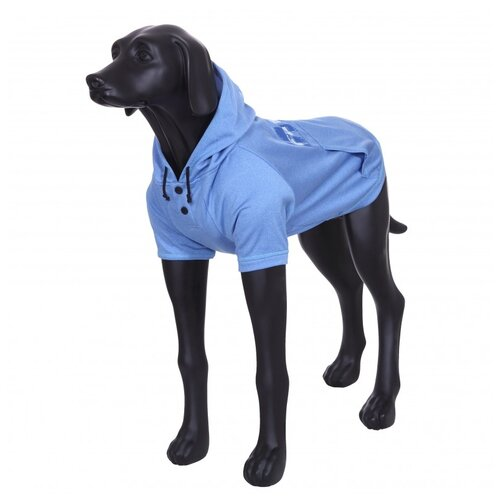 Толстовка для собак RUKKA Thrill Technical Sweater голубая размер M 35см