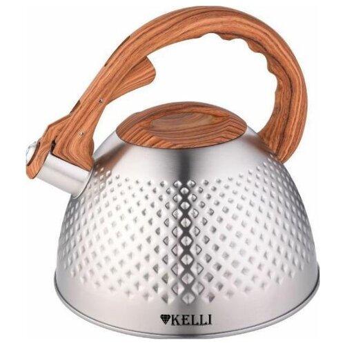 Фото - KL-4532 Чайник металлический на газ 3л KELLI чайник 3л kelli kl 4316 синий