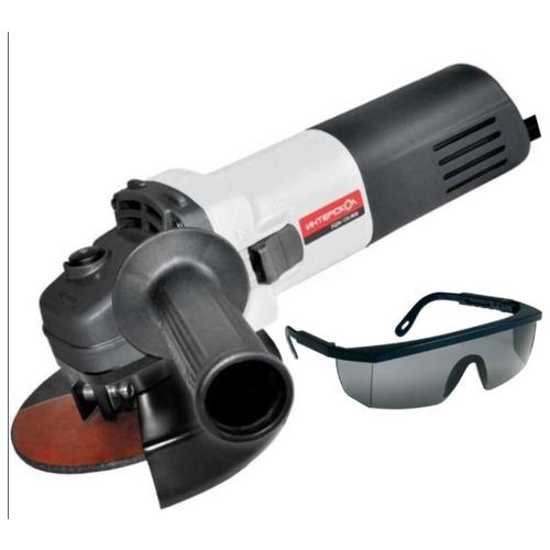 УШМ Интерскол УШМ-125/800 (590.1.0.00) + ударопрочные защитные очки, 800 Вт, 125 мм ушм вихрь ушм 125 800 2020 800 вт 125 мм