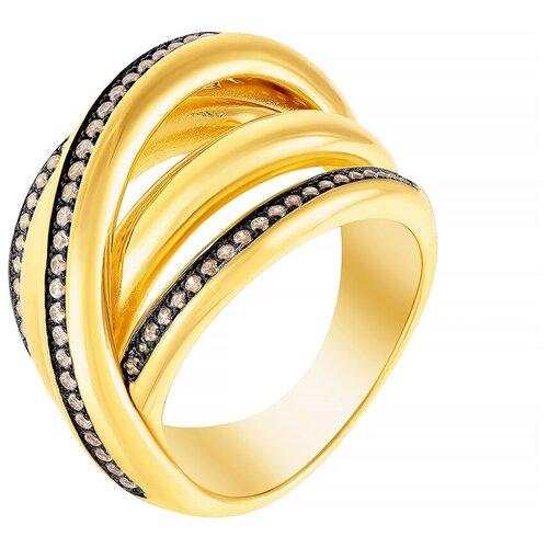 Фото - ELEMENT47 Широкое ювелирное кольцо из серебра 925 пробы с кубическим цирконием Z00970_KO_001_YG, размер 18 element47 широкое ювелирное кольцо из серебра 925 пробы с кубическим цирконием 05s2azr104804curi 001 wg размер 18