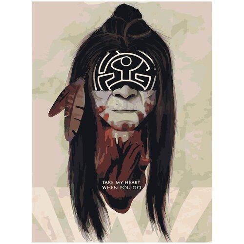 Картина по номерам Мир Дикого Запада - Индеец Призрак, 60 х 90 см