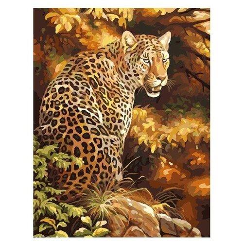 Картина по номерам 40х50 см, Леопард в лесу, GX8340 картина по номерам 40х50 см леопард в лесу gx8340