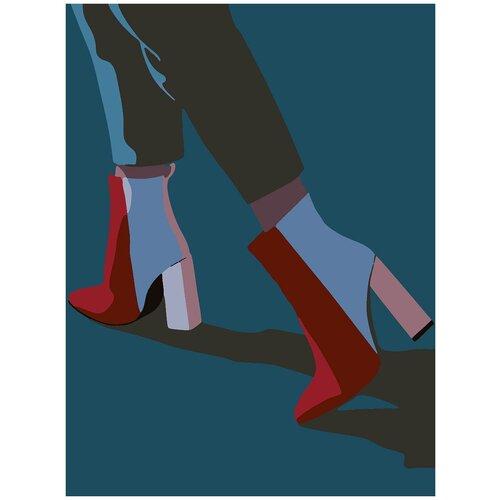 Купить Картина по номерам Минимализм - Ботильоны, 80 х 100 см, Красиво Красим, Картины по номерам и контурам