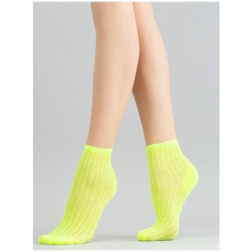 Носки Giulia WS2 NEON PA 008 размер UNI, yellow neon (Зеленый)